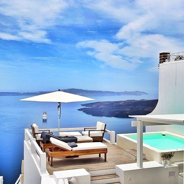 Aqua VillaSantorini GreecePhotography byg0lden_heart