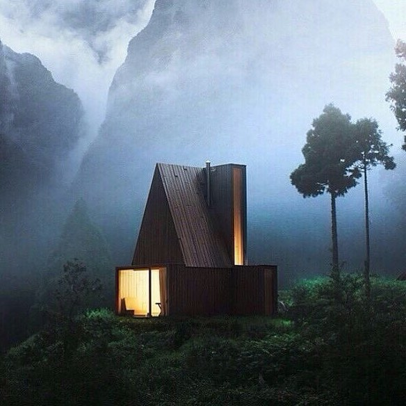 A-Frame Cabin via @visual_landscapes