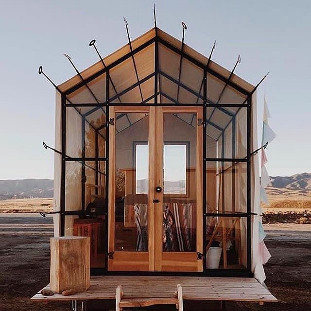 Gabel Hut by Shelton Huts located in New Cuyama, California. Photo by @li.nnaea