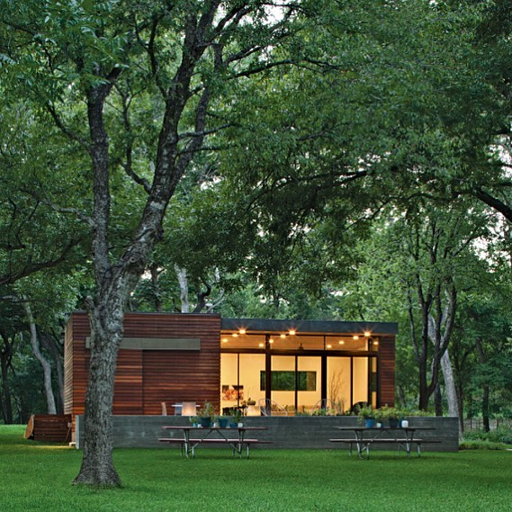 Small Family Lakeside Getaway in Texas designed by Austin architect Jared Haas of Un.Box Studio